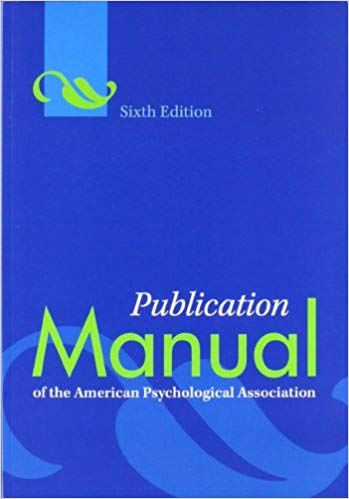APA Manual, 6th Edition